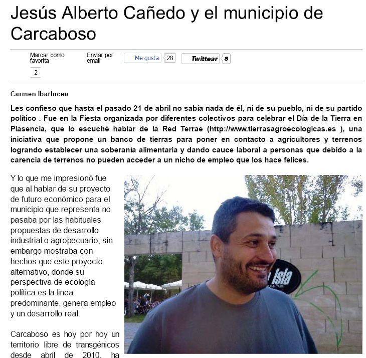 Entrevista Alberto Cañedo, alcalde de Carcaboso