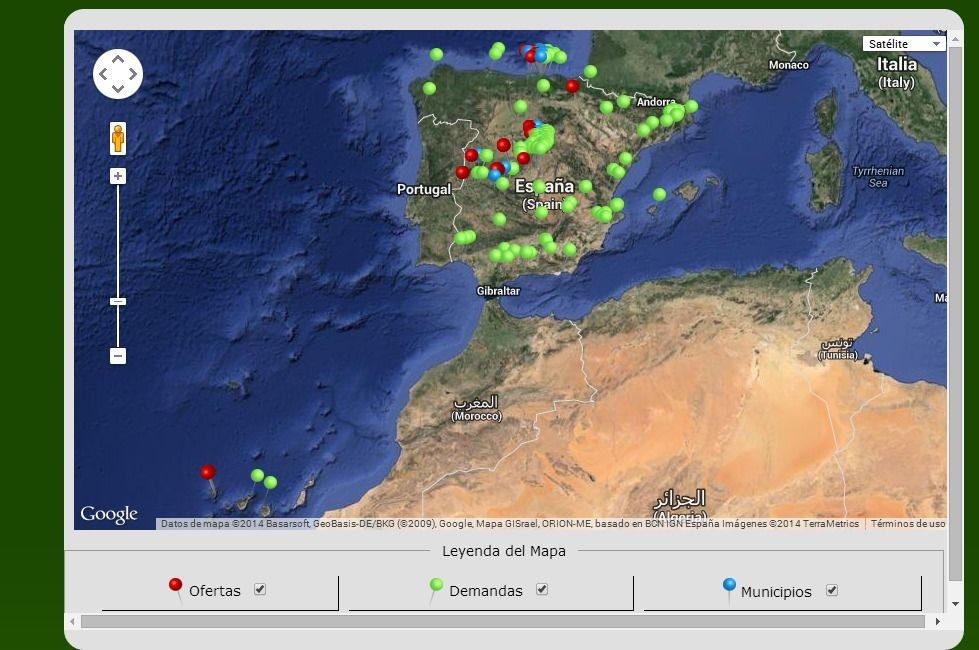 mapa banco tierras