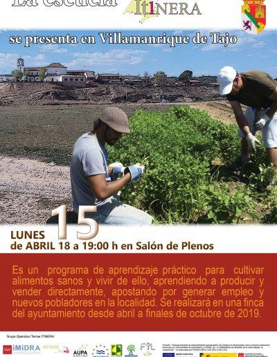 cartel presentacion Itinera Villamanrique 15abr19